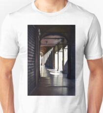 Light and shadows in a portico from Bologna, Italy T-Shirt
