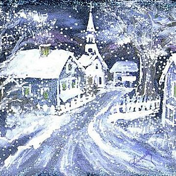 SNOWY VILLAGE CHRISTMAS SCENE by franniesbest