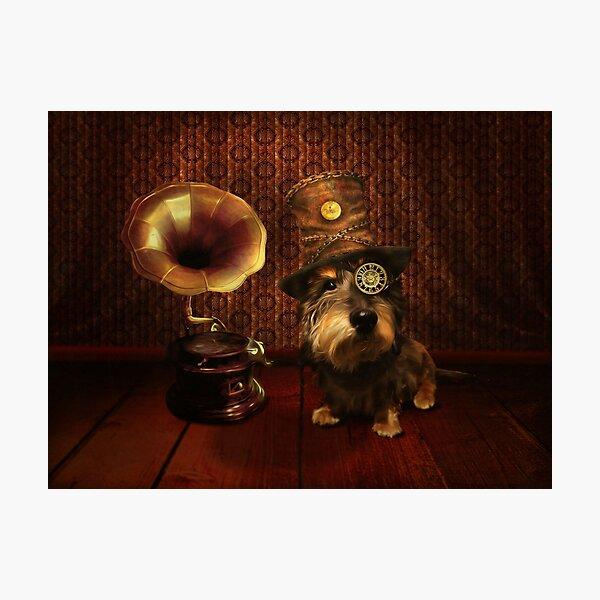 Steampunk Dashound Photographic Print