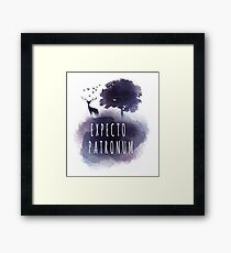 Expecto patromun watercolor stag Framed Print