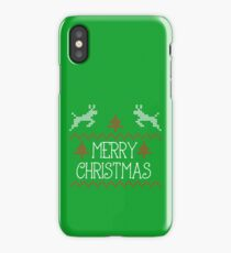 Merry Christmas knit design iPhone Case/Skin