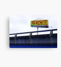 a promise in Footscray Canvas Print