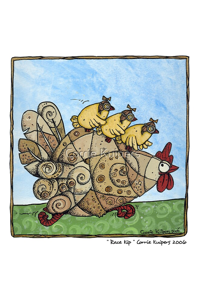 Race kip by Corrie Kuipers