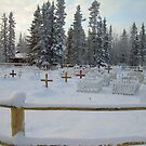 Beaver,Alaska -cemetary during the winter by drewster