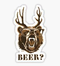 Bear, Deer or Beer  Sticker