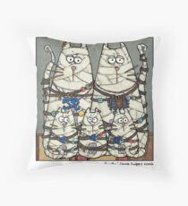 Mummy family Throw Pillow