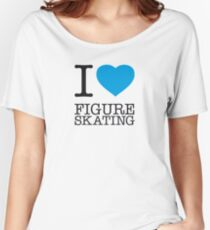 I ♥ FIGURE SKATING Women's Relaxed Fit T-Shirt