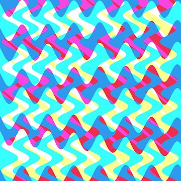 Crossfence Wave Neon Pink - Electron Series 005 by outerground