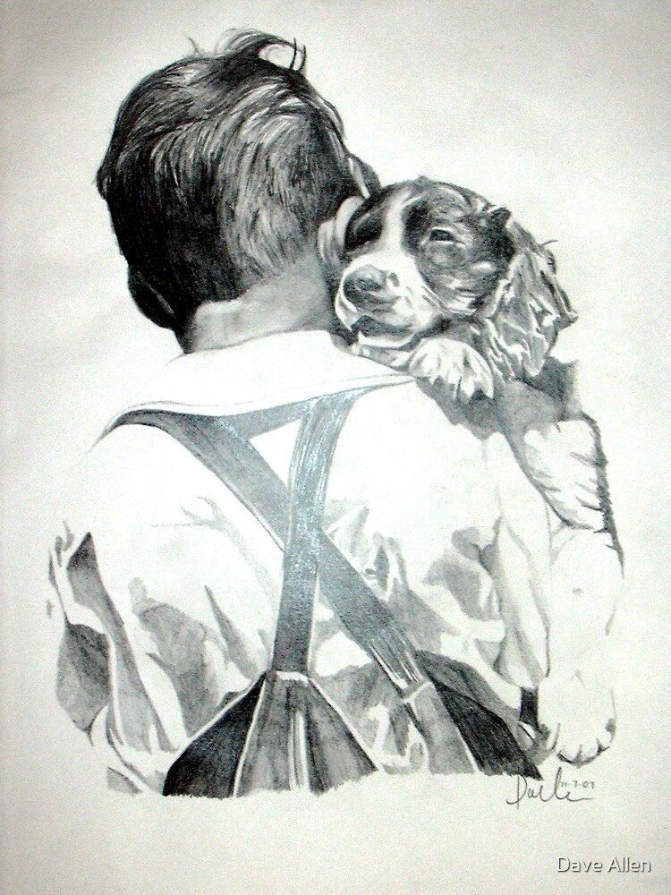 Young Boy with Dog by Dave Allen