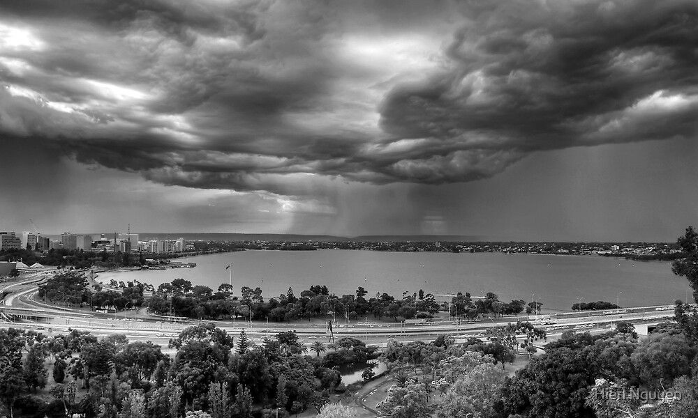 Thunderstorm brewing over Perth by Hien Nguyen