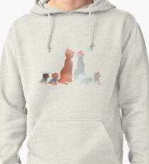 Cats Inspired Silhouette Pullover Hoodie