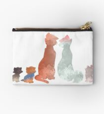 Cats Inspired Silhouette Studio Pouch
