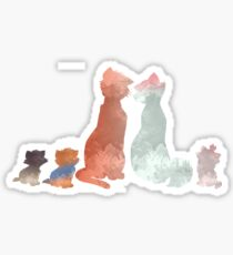 Cats Inspired Silhouette Sticker