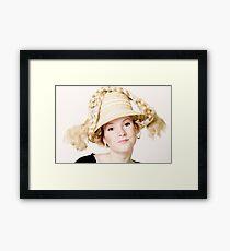 Blond girl Framed Print
