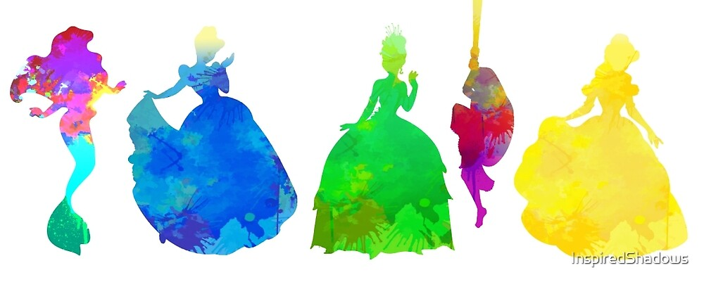 5 Princesses Inspired Silhouette by InspiredShadows