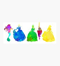 5 Princesses Inspired Silhouette Photographic Print
