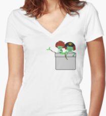 Pocket Kodama  Women's Fitted V-Neck T-Shirt