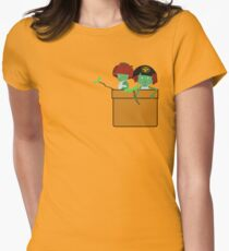 Pocket Kodama  Womens Fitted T-Shirt