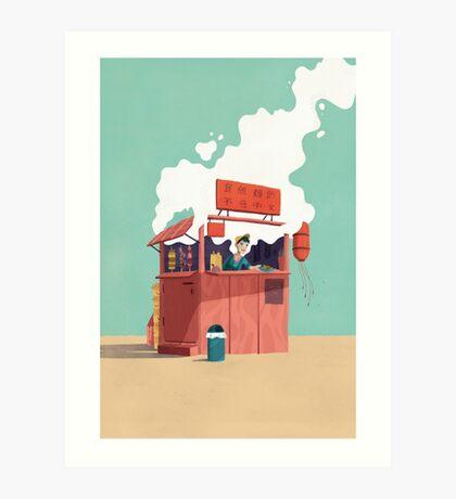 Foodstand Art Print