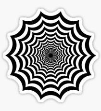 Spider Web Hypnotic Sticker