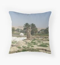 The Mortuary Temple of Amenhotep III, no. 3 Throw Pillow
