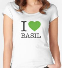 I ♥ BASIL Women's Fitted Scoop T-Shirt
