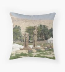 The Mortuary Temple of Amenhotep III, no. 4 Throw Pillow