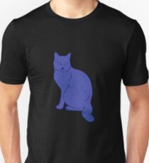 Watercolor Floral and Cat Unisex T-Shirt