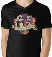 Camiseta de cuello en V Old school nightmare