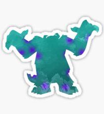 Monster Inspired Silhouette Sticker