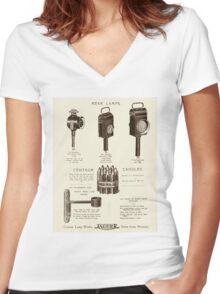 Vintage Carriage and Cart Lamps Early 1900s  Women's Fitted V-Neck T-Shirt