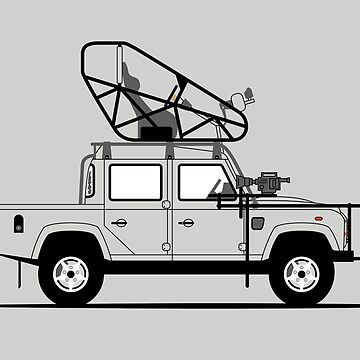 A Graphical Interpretation of the Defender 110 Double Cab Pick Up Skyfall Stunt Car by 3pedaldriving