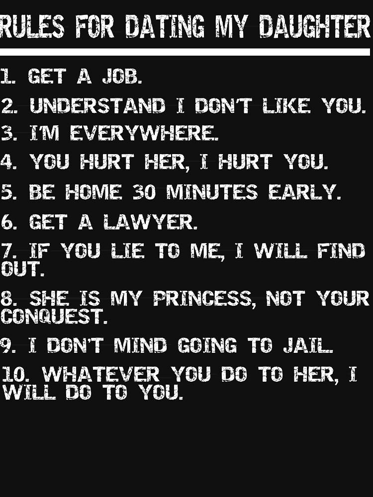 Drei einfache Regeln für die Datierung meiner Tochter