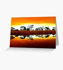 Marlo bush fire reflections Greeting Card