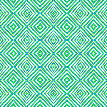 Interference Grid Green - Optical Series 018 by outerground