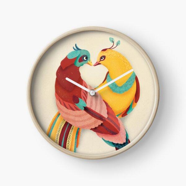 Lovebirds Clock