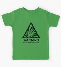 Warning: Explosive Anger Kids Tee