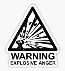 Warning: Explosive Anger Sticker