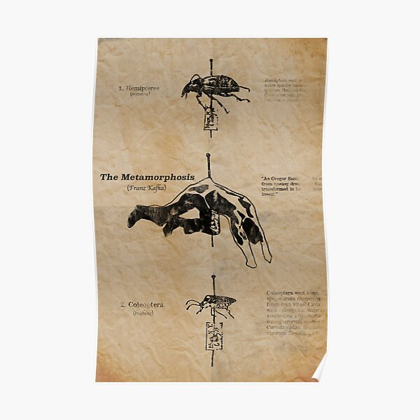 The Metamorphosis by Franz Kafka Poster