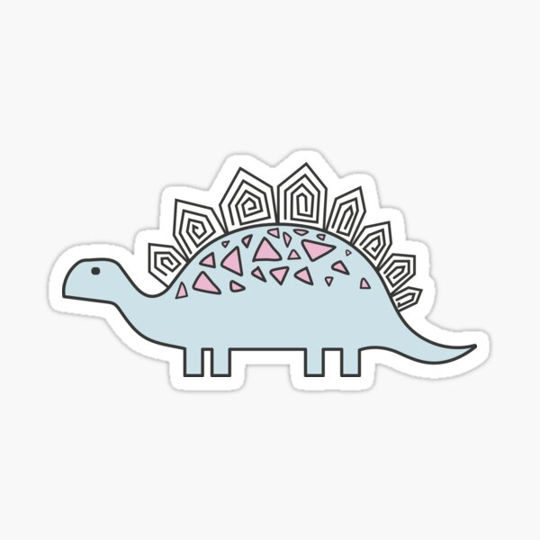 Ornament with dinosaurs, Jurassic Park. Adorable seamless pattern with funny dinosaurs in cartoon Sticker