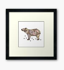 Cute Bear. Scandinavian style. Framed Print