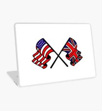 US & UK Crossed Flags Laptop Skin