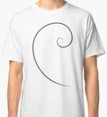 Golden Ratio Spiral Classic T-Shirt
