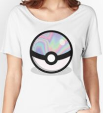 Holographic Pokeball Women's Relaxed Fit T-Shirt