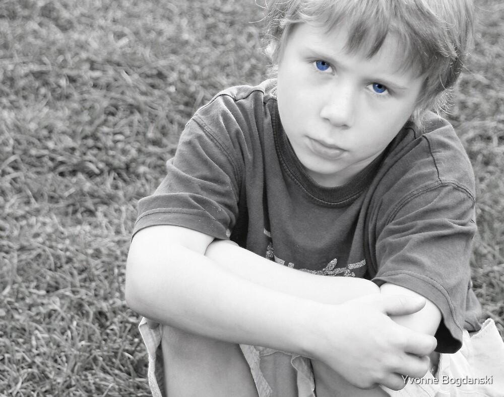 Sad boy by Yvonne Bogdanski
