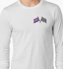 Crossed flags - Racing and Great Britain Long Sleeve T-Shirt
