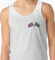Crossed flags - Racing and Great Britain Tank Top
