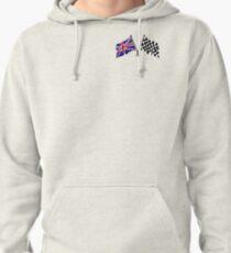 Crossed flags - Racing and Great Britain Pullover Hoodie