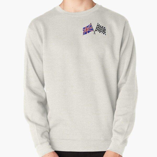 Crossed flags - Racing and Great Britain Pullover Sweatshirt