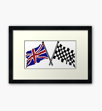 Crossed flags - Racing and Great Britain Framed Print